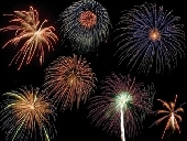 Firework displays in the Forest of Dean, Gloucestershire