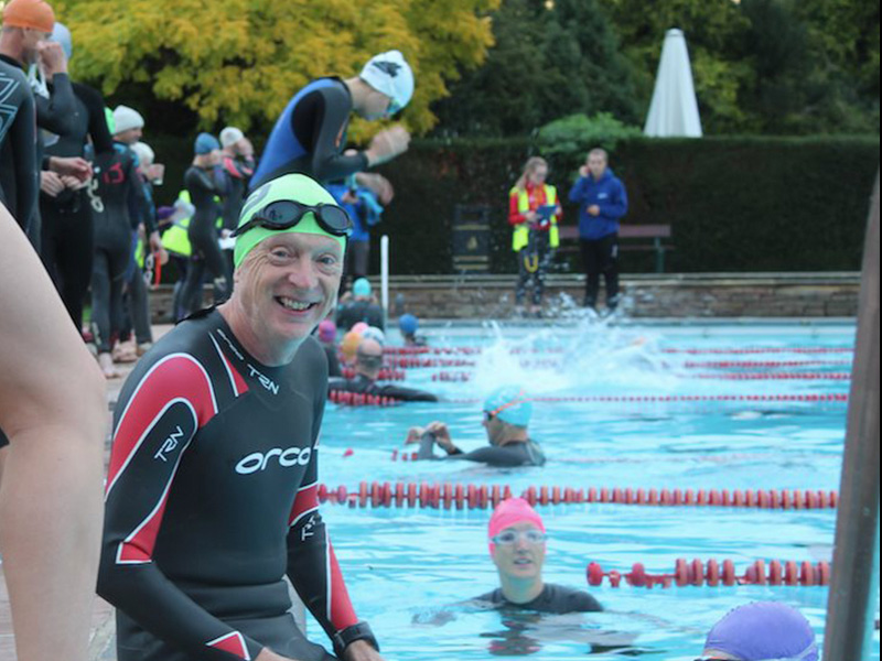 The Devil's Aquathlon at Sandford Lido