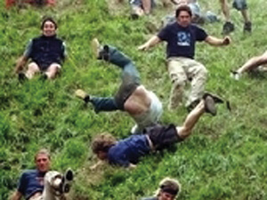 Cheese Rolling at Coopers Hill, Gloucestershire