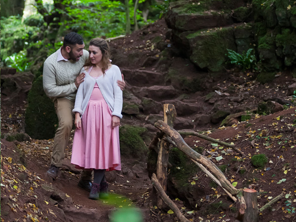 Outdoor theatre in the Forest of Dean, Gloucestershire Puzzlewood