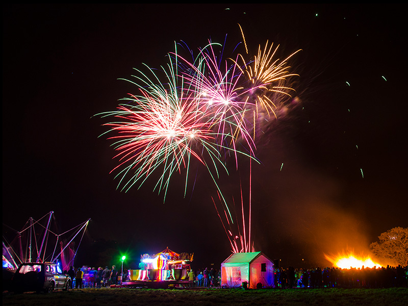 Firework displays in Wotton, Gloucestershire