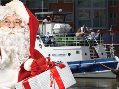 Father Christmas at Gloucester Docks