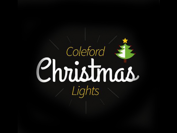 Christmas lights in Coleford