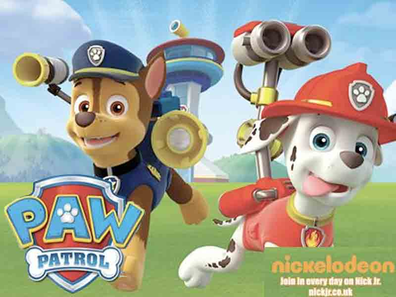 Chase & Marshall from Paw Patrol  at Cattle Country in Gloucestershire