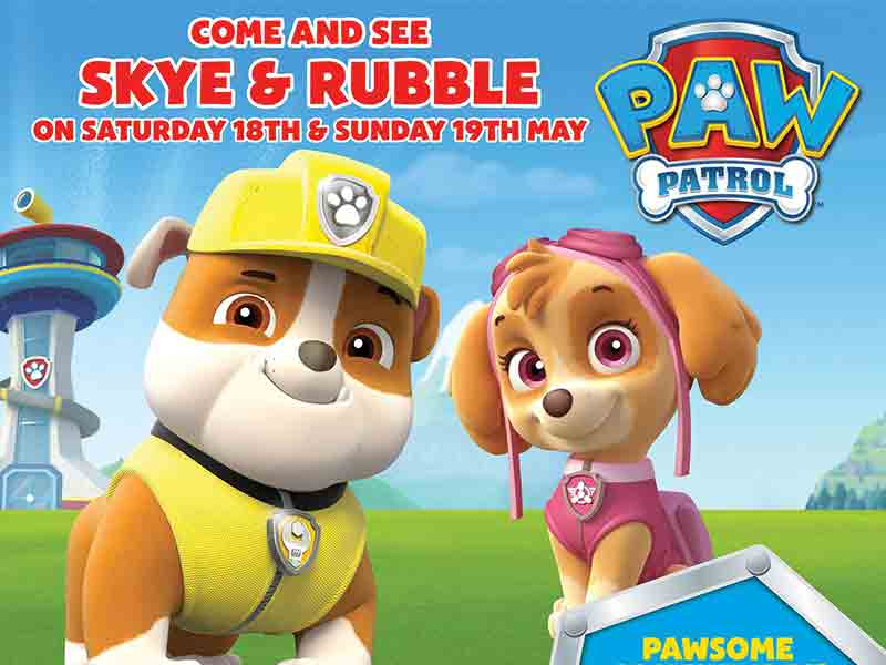 Skye & Rubble from Paw Patrol at Cattle Country