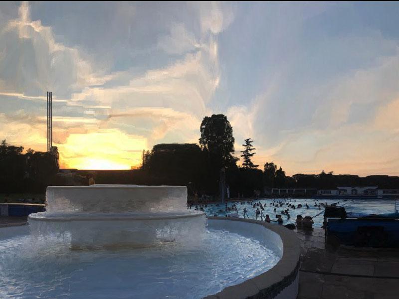 Sunset Swim at Sandford Parks Lido