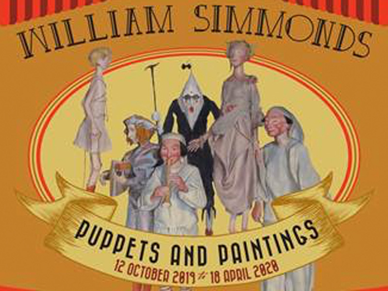 The Magical World of William Simmonds: Puppets and Paintings Exhibition