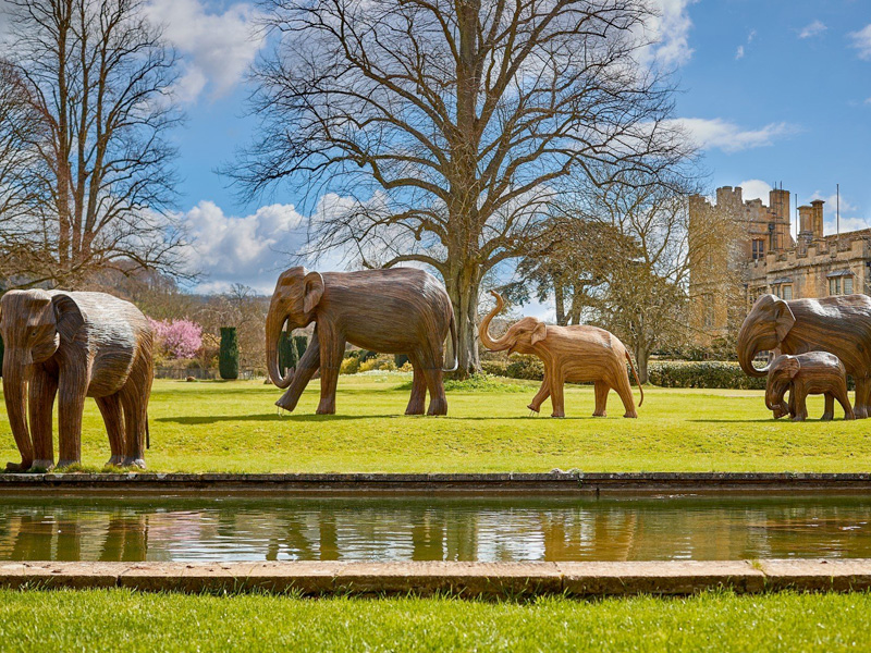 The Elephant Family at Sudeley Castle & Gardens