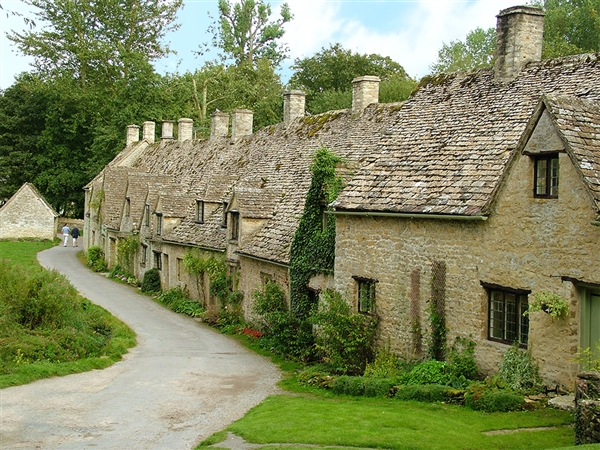 The famous Arlington Row at Bibury in the Cotswolds
