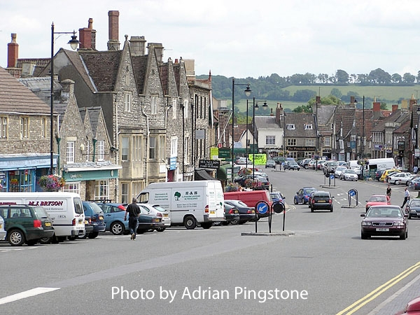 The wide main street of Chipping Sodbury