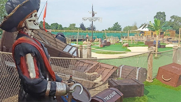 Pirate Island Adventure Golf in the Forest of Dean
