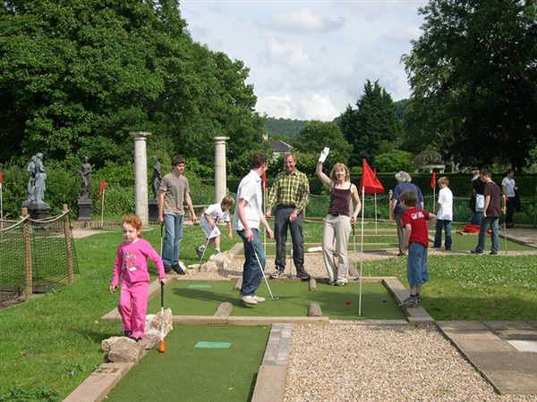 Roman Miniature Golf at Wye Valley Visitor Centre in Symonds Yat West