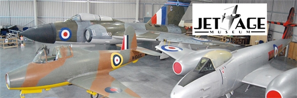 The Jet Age Museum is located between Cheltenham and Gloucester