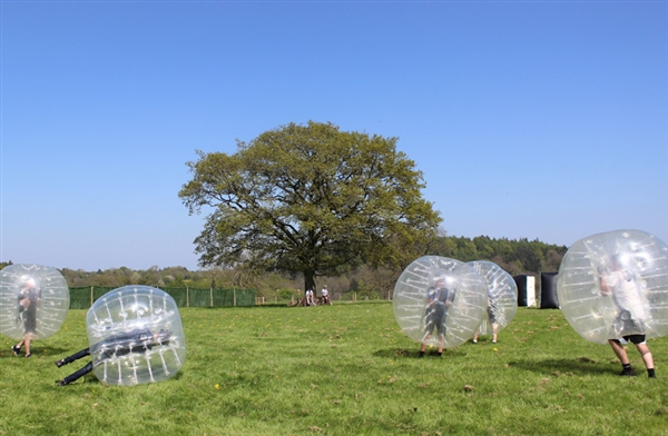Hillside Bubble Football located at Hillside Brewery in the Forst of Dean