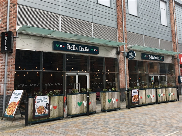 Bella Italia Restaurant & Bar at Gloucester Quays in the historic Gloucester Docks