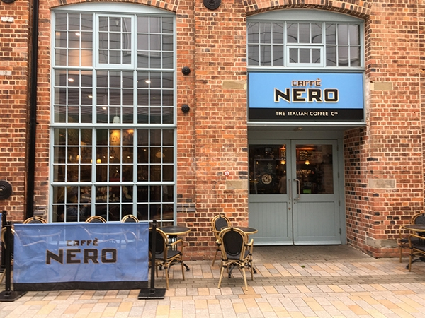 Caffè Nero at Gloucester Quays in the historic Gloucester Docks