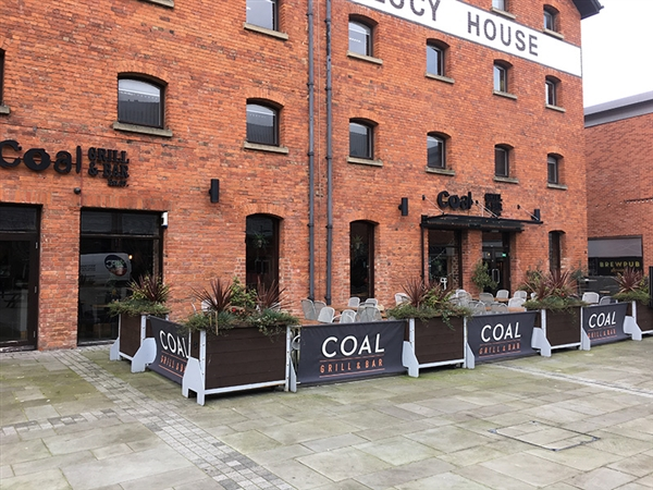 Coal Grill & Bar at Gloucester Quays in the historic Gloucester Docks