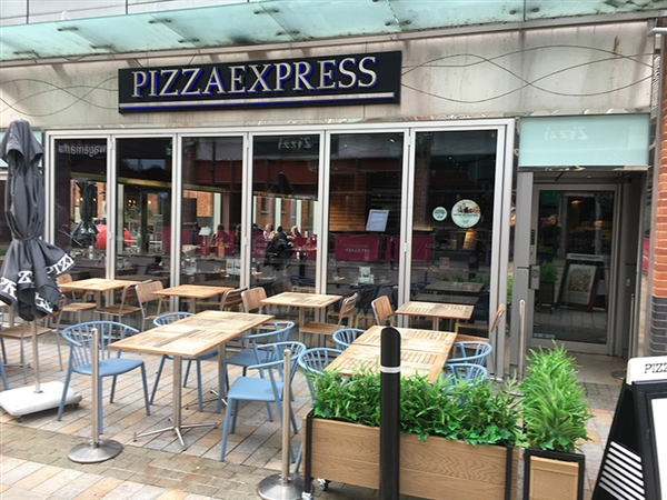 Pizza Express at Gloucester Quays in the historic Gloucester Docks