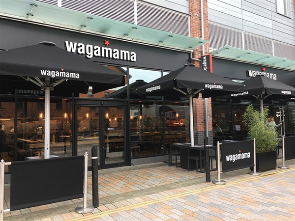 Wagamama Restaurant at Gloucester Quays in the historic Gloucester Docks