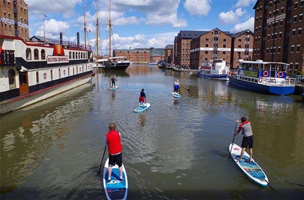 Gloucester SUP - Stand-up Paddleboarding in Gloucester Docks