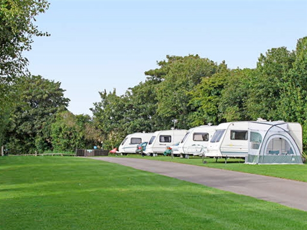 Bourton-on-the-Water Caravan Club Site in the Cotswolds