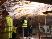 Working on the grand ceiling