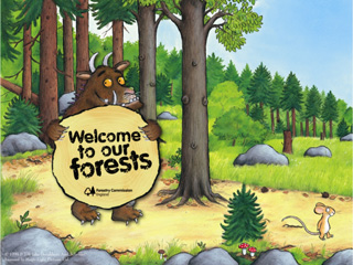 The Gruffalo comes to woods in Gloucestershire!