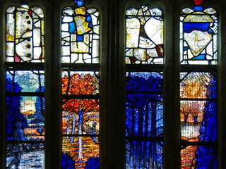 New Ivor Gurney stained glass window installed at Gloucester Cathedral