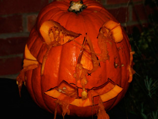 Over Farm Halloween Frightmare pumpkin carving competition