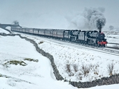 The Cathedrals Express steam train visits Gloucester for a fabulous Christmas train ride