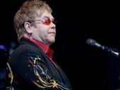 Elton John at Gloucester Kingsholm Rugby Club