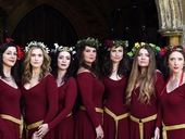 Mediaeval Baebes' Sacred Spaces Tour at Gloucester Cathedral