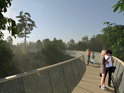 Treetop Walkway at Westonbirt gets support
