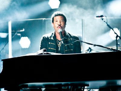 Lionel Richie at Gloucester Rugby Stadium Kingsholme