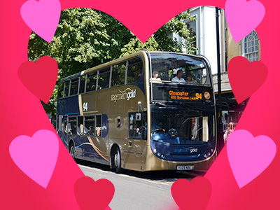 £1 Evening Rider Ticket over Valentine's Weekend with Stagecoach West