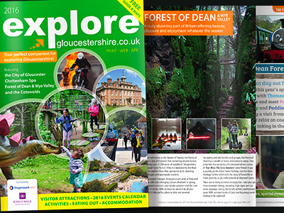 Explore Gloucestershire printed guide 2016