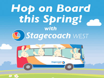 Easter on Stagecoach West buses