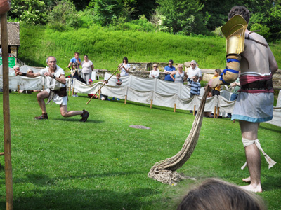 Roman Gladiator Arena at Chedworth Roman Villa this Father's Day