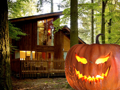 Enjoy 10% off a spooky and fun Halloween in a luxury forest cabin deep in the woods!