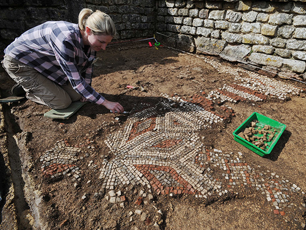 Archaeological digs at Chedworth Roman Villa