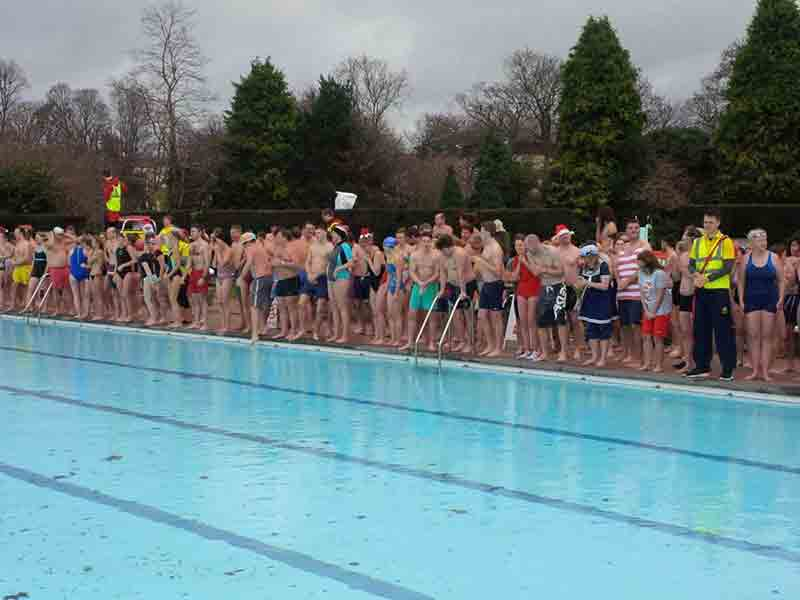 Christmas Day swim at Sandford Parks Lido