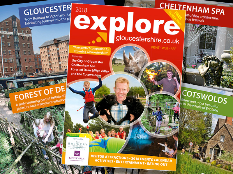 2018 Explore Gloucestershire printed guide now out