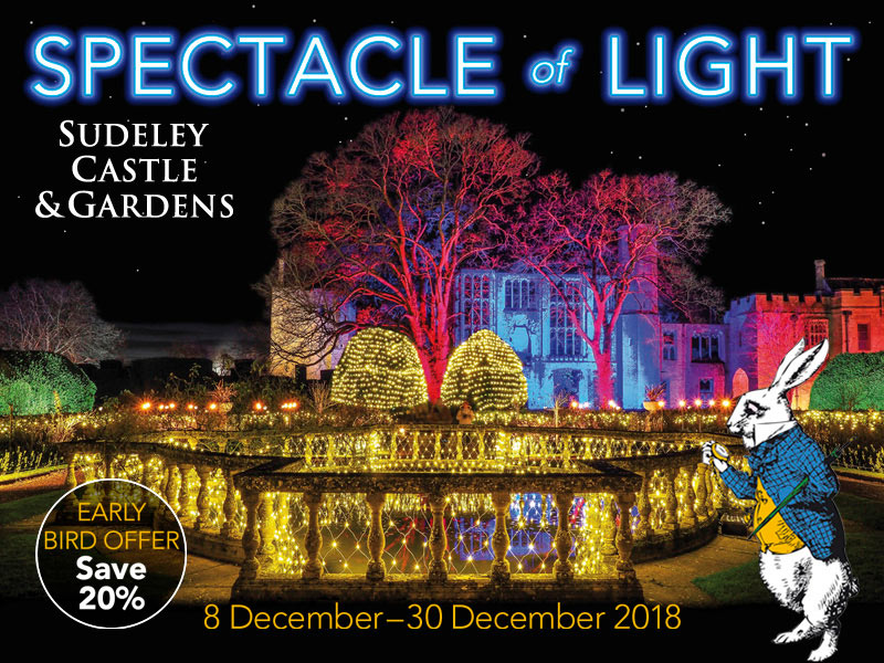 Spectacle of Light is to return to Sudeley Castle & Gardens