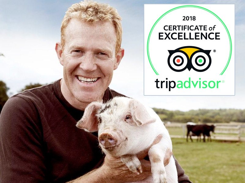 Adam Henson's Cotswold Farm Park earns 2018 TripAdvisor Certificate of Excellence