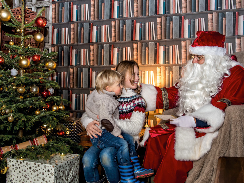 Father Christmas has landed at Cotswold Farm Park