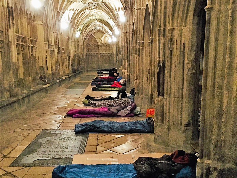 Cathedral Sleepover Raises Over £14,000 for Gloucester's Homeless