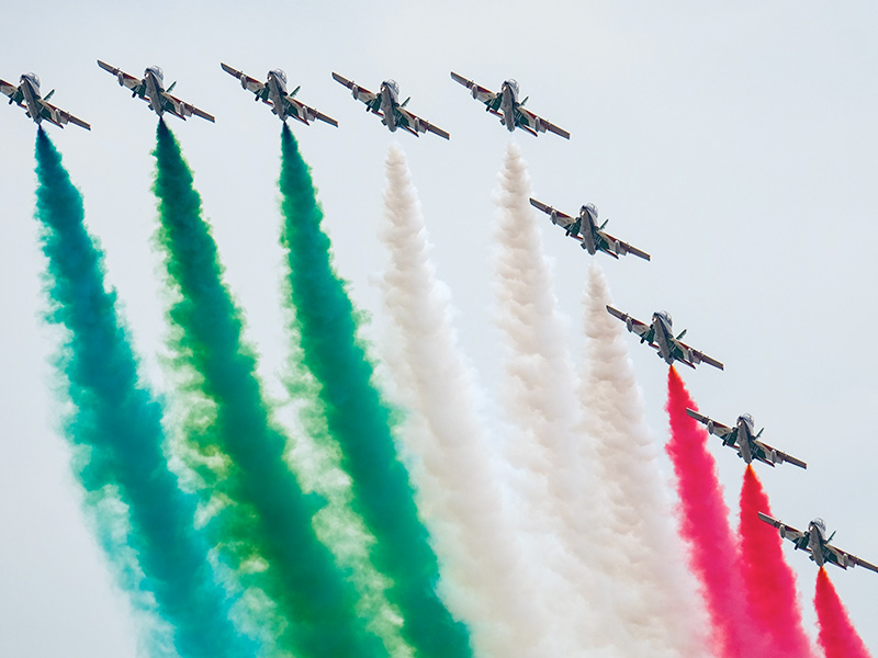 Latest from RIAT: Italian Air Force Frecce Tricolori Display Team
