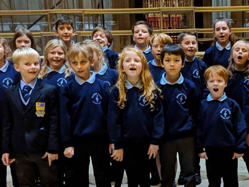 Gloucester Cathedral's Junior Choir get ready to lead Choral Evensong
