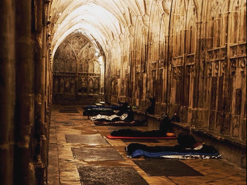 Cloister Challenge Sleep-out Celebrates Fifth Year at Gloucester Cathedral