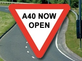 A40 now open at Over near Gloucester